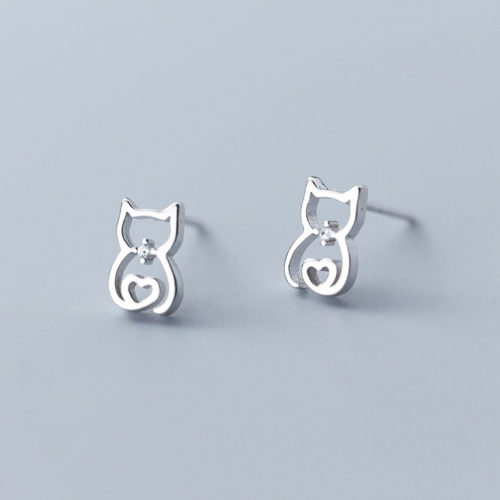Loving Heart Silver Earrings