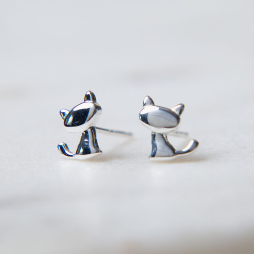 I Really Love this Kitty Sterling Silver Earrings