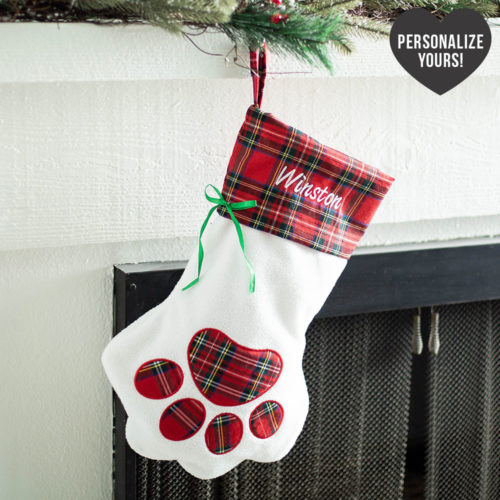Santa Paws Customizable Christmas Stocking