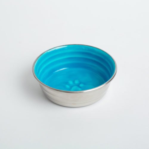 Pretty Paw Blue Stainless Steel Bowl, Small