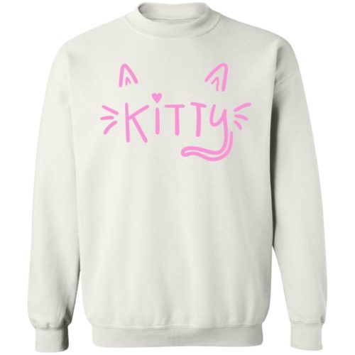 Happy Kitty Face White Sweatshirt