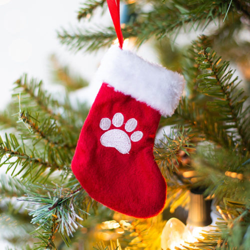 Mini Paw Stocking Ornament