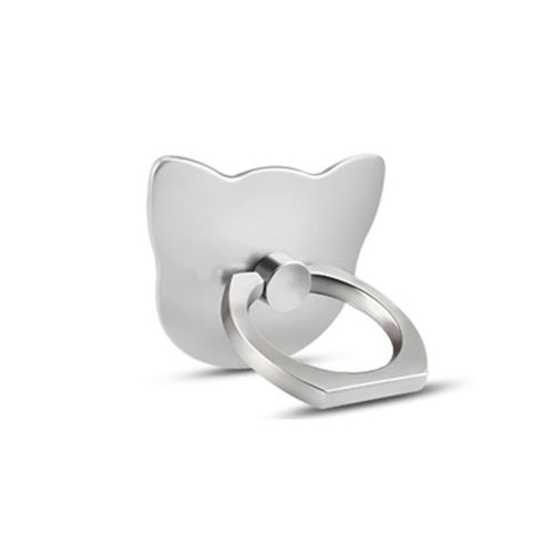 Cute Kitty Cell Phone Ring Grip Silver
