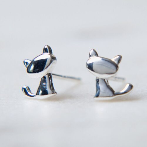 Second Chance Movement™ I Really Love ♥️ This Kitty Sterling Silver Earrings