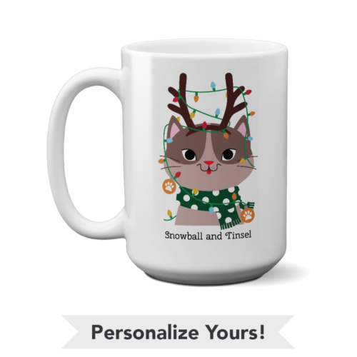 My Favorite Christmas Kitty Personalized 15 oz. White Mug