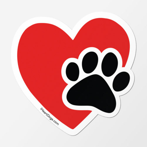 Paws In My Heart Kitty Car Magnet