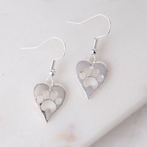 Forever Paws In My Heart Earring