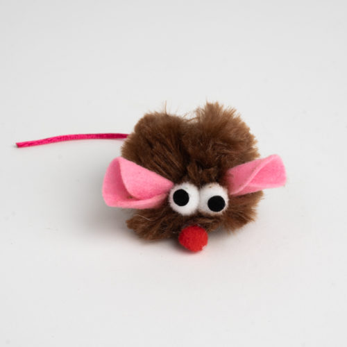 Snuggle Mice Cat Toy with Catnip Brown