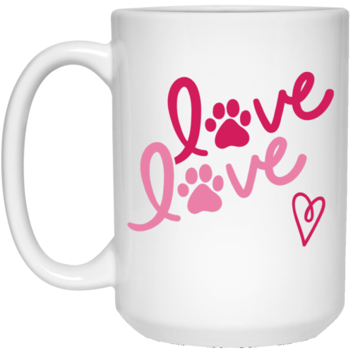 Love Love 15 oz. White Mug