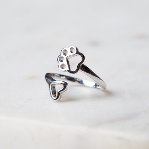 "The Miracle of Love Limited Edition ""A Shelter Cat Promise"" Sterling Silver Ring"