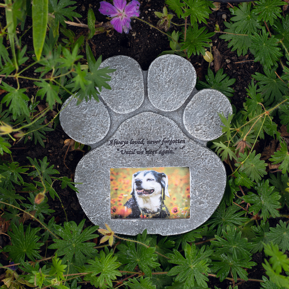 Until We Meet Again Paw Memorial Garden Stone