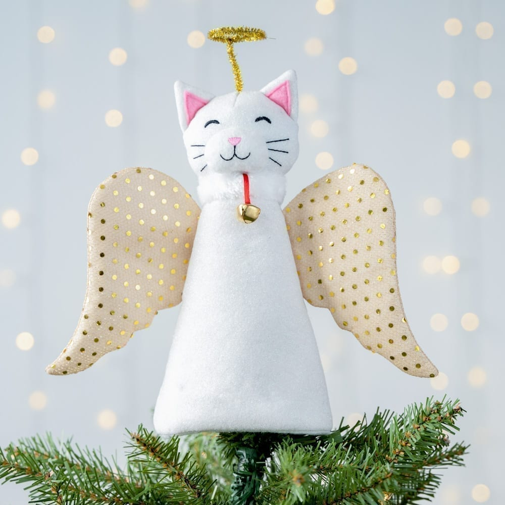 A 'Christmas Miracle' Cat Artisan Tree Topper