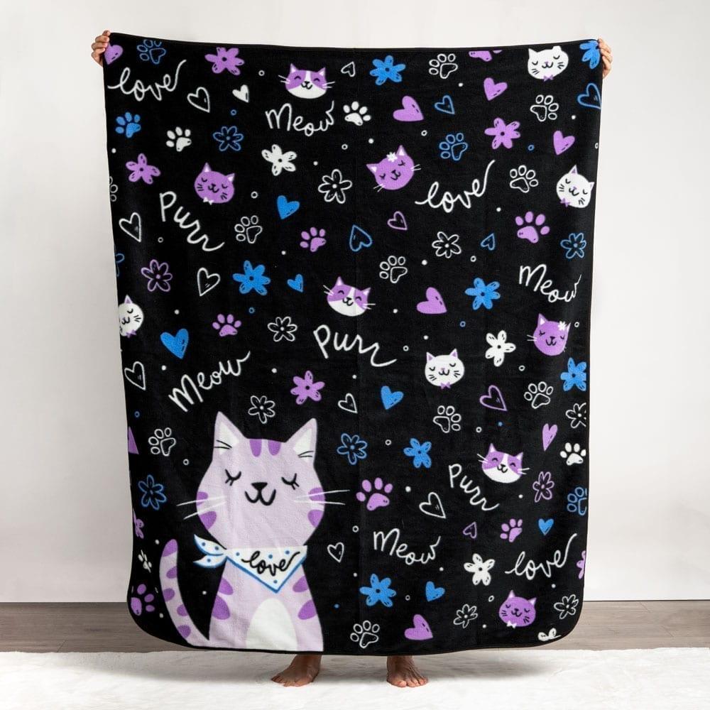 Meow Purrr Kitty 💗 Fleece Blanket