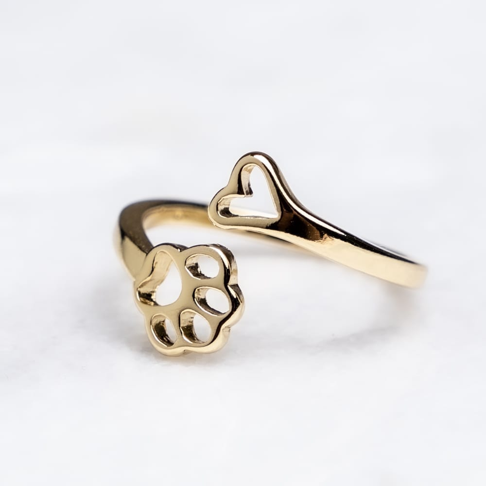 Always By My Heart Adjustable Ring- Gold