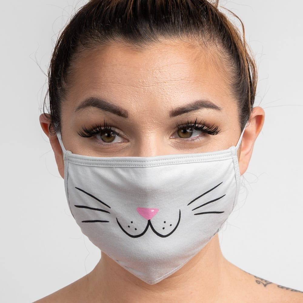 Kitty Face Protective Double Layer Protective Face Covering