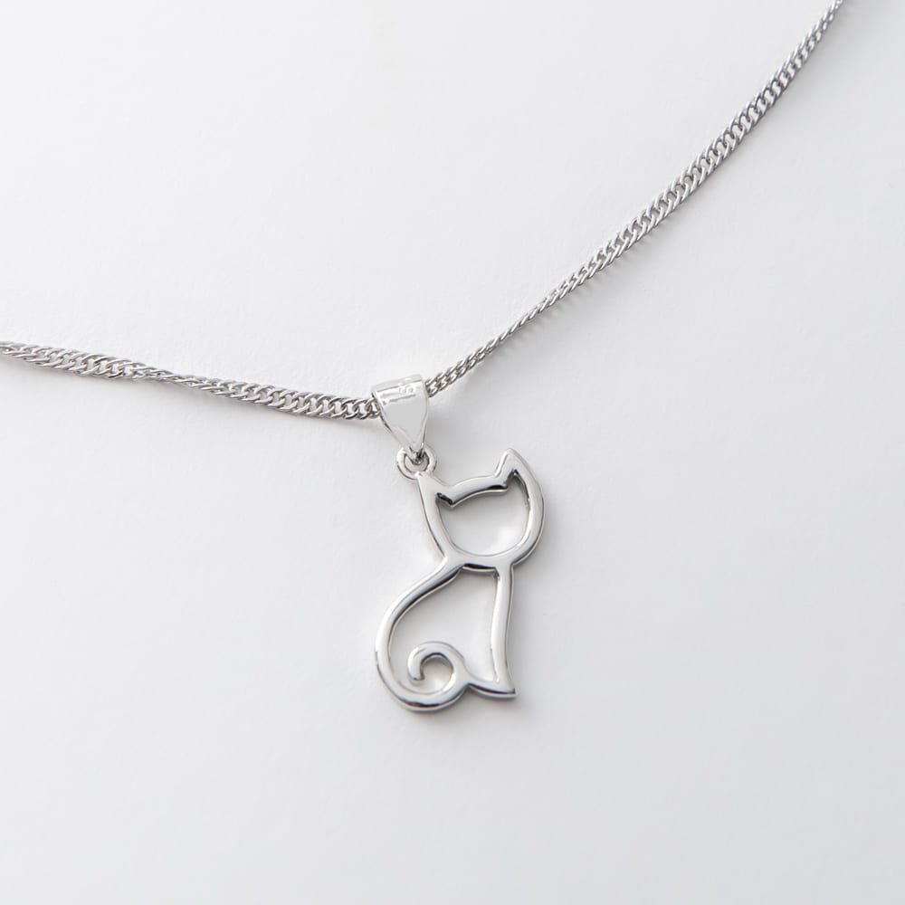 Pretty Kitty Heart ❤️  Sterling Silver Necklace Necklace 🐾 Deal 25% OFF!