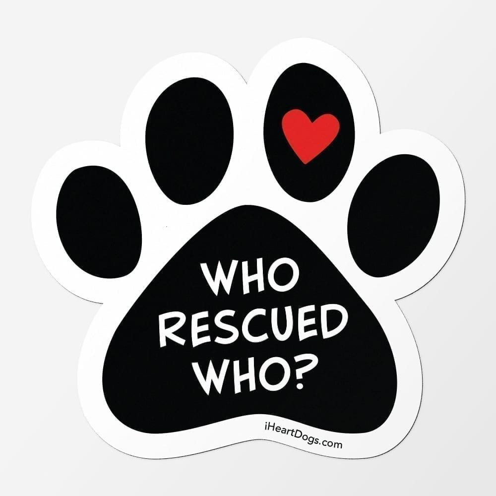 Who Rescued Who? Car - Fridge Magnet