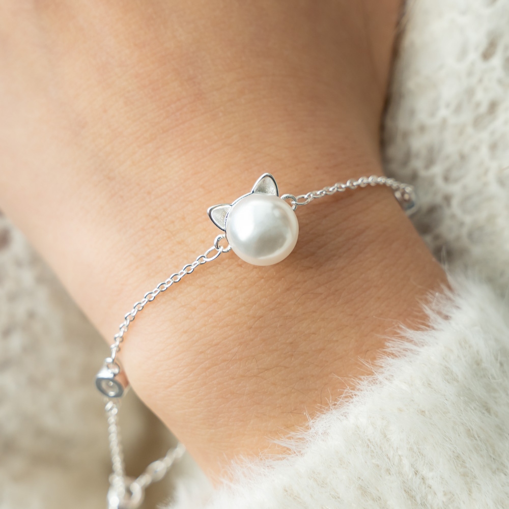 My Pearl Kitty Divine Sterling Silver Bracelet