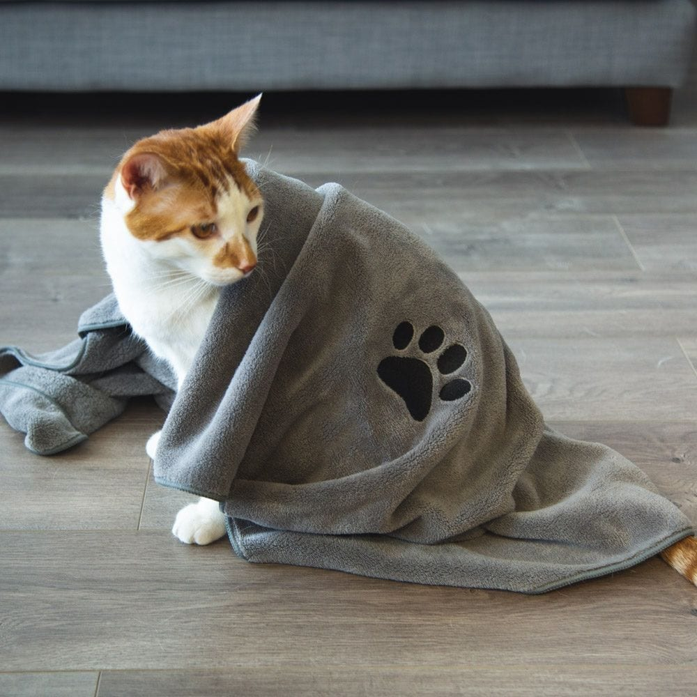 Large Premium Bath Towel For Cats