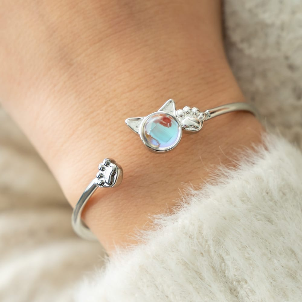 Purrfect Kitty & Paws Sterling Silver Bracelet