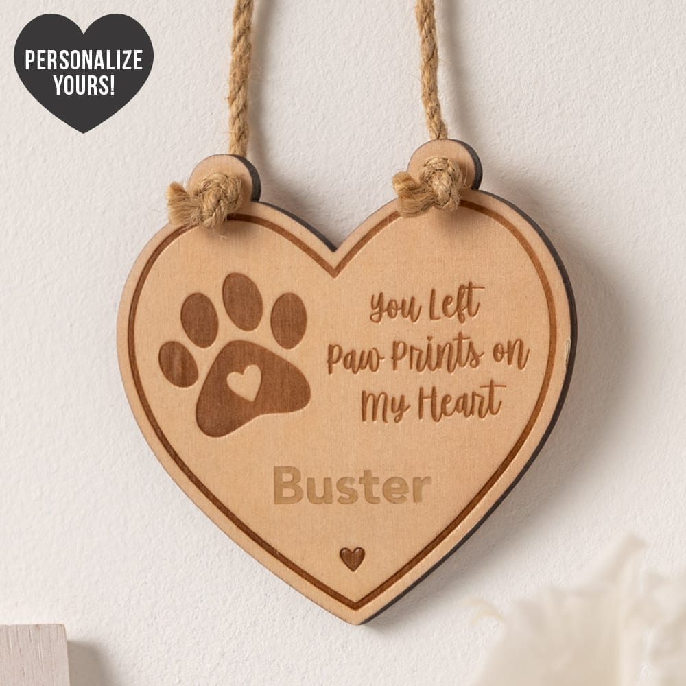 You Left Paw Prints On My Heart Personalized Keepsake 🐾 Deal 25% Off!