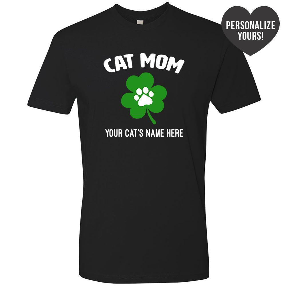 St. Paddy's Cat Mom 🐾 Personalized Premium Tee Black