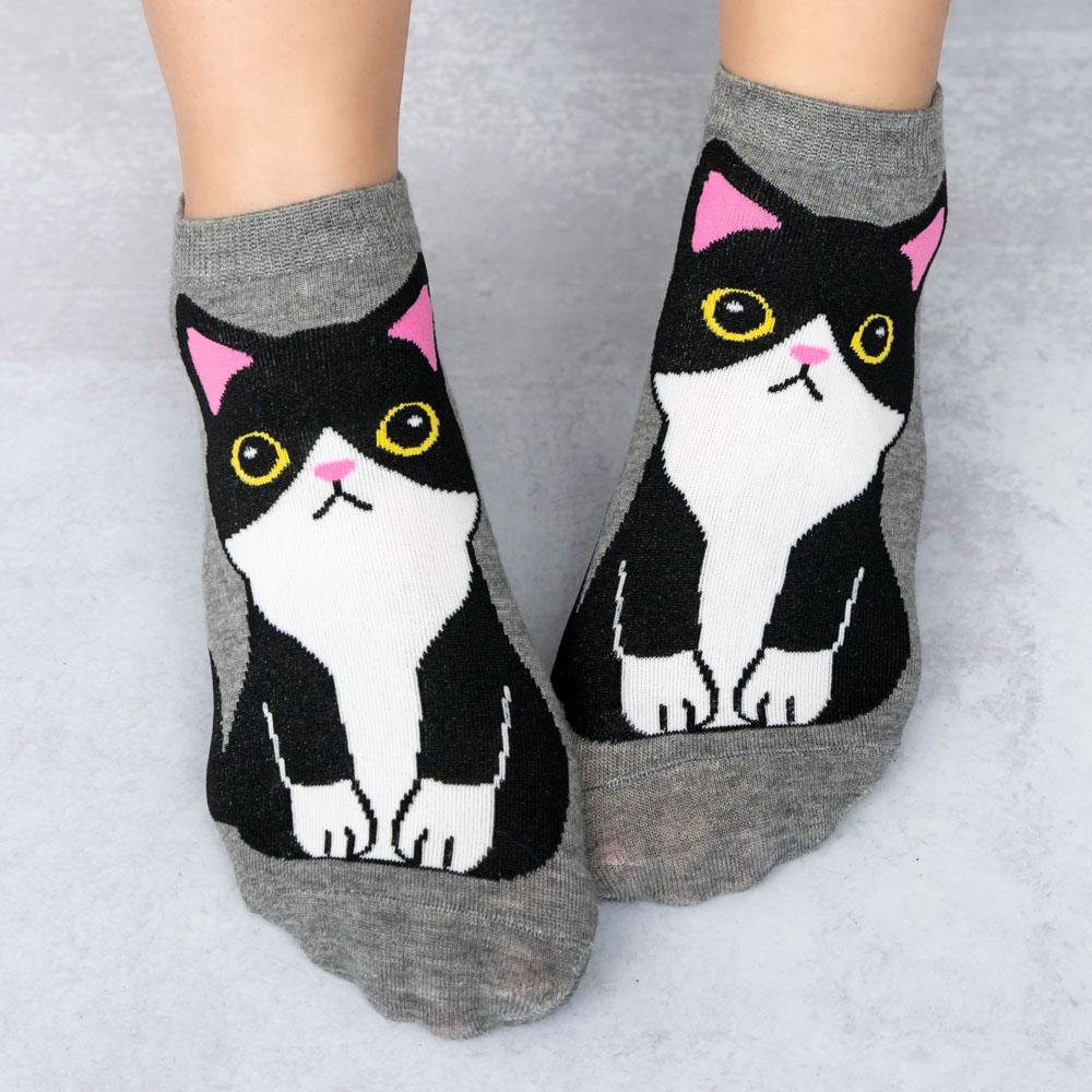 Meow Black Kitty Socks