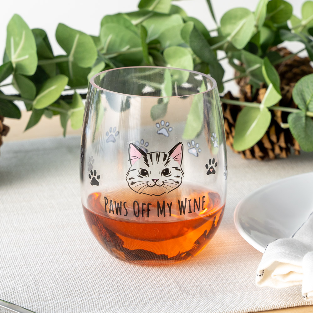 Paws Off My Wine Poolside 'n Patio Wine Cup