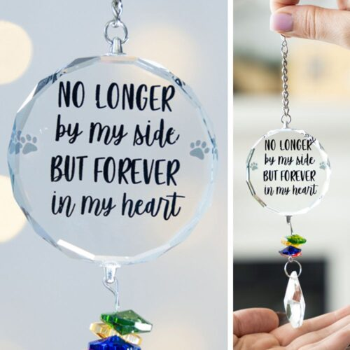 No Longer By My Side Crystal Ornament