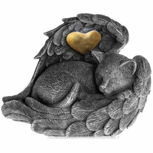 Forever Loved Cat Angel Urn - Memorial Indoor/Garden Statue