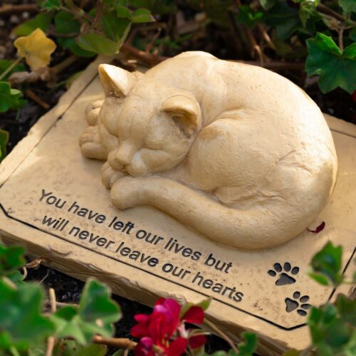 You Left Our Lives But Never Leave Our Hearts Garden Stone